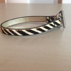 Banana Republic faux calf hair bracelet ~Like New~